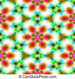 Kaleidoscope seamless abstract colorful background with star...