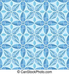 Kaleidoscope tile seamless pattern background