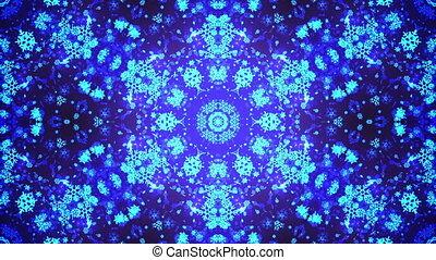 Kaleidoscope VJ loop Background. Full HD