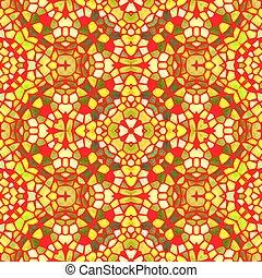Kaleidoscope - Yellow kaleidoscope seamless abstract...