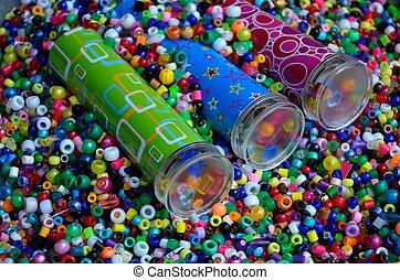 Kaleidoscopes in beads