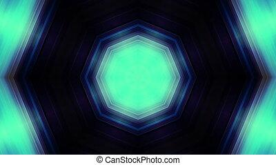 Kaleidoscopic animated blue green looping animated backdrop...