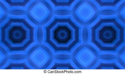 kaleidoscopic animation background - VJ Fractal blue...