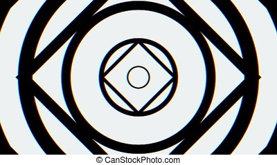 Kaleidoscopic animation loops endlessly - great for web site...