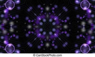Flashing purple transforming figures - Kaleidoscopic...