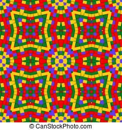 Kaleidoscopic background - Abstract kaleidoscopic background...