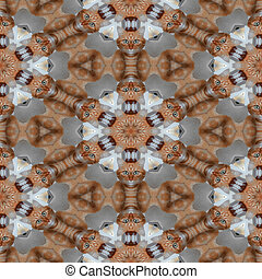 Kaleidoscopic cat seamless generated hires texture
