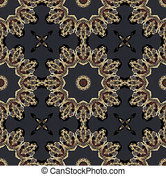 Kaleidoscopic design abstract ornament seamless texture, wavy pattern background