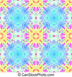 Kaleidoscopic design abstract ornament seamless texture, wavy psychedelic