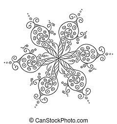 kaleidoscopic floral pattern