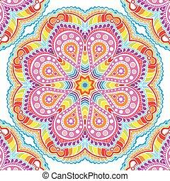 kaleidoscopic floral pattern, mandala