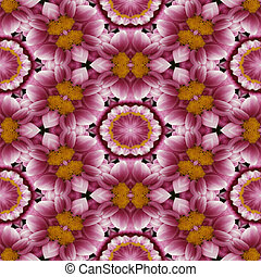 Kaleidoscopic floral seamless generated hires texture