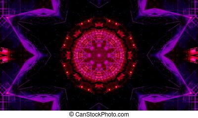 Kaleidoscopic high tech looping animated background
