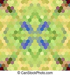 Kaleidoscopic low poly hexagon style vector mosaic...