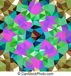 Kaleidoscopic low poly triangle style vector mosaic background