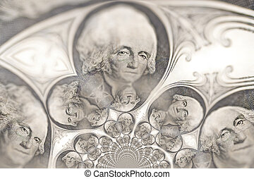 Kaleidoscopic Pattern of a Dollar Bill