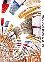 Kaleidoscopic Pattern of Brushes