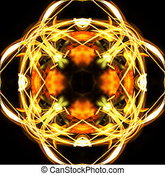 Kaleidoscopic psychedelic pattern. Abstract symmetric...