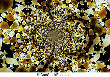 Kaleidoscopic sand grains