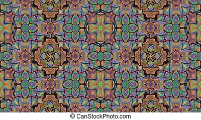 Kaleidoscopic generated seamless loop video