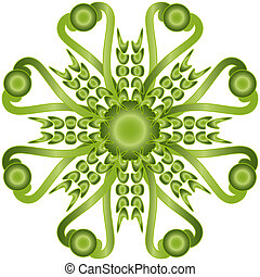 Kaleidoscopic shape - green kaleidoscopic shape