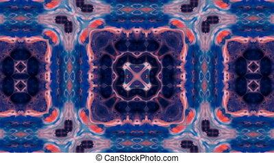 kalejdoskop, szczotka, abstrakcyjny, malować, symetryczny,...