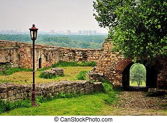 kalemegdan, 公园, 在中, 贝尔格莱德, 塞尔维亚