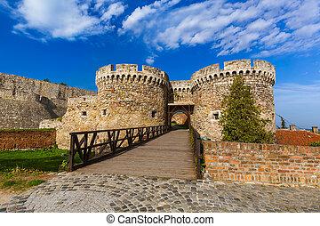 kalemegdan, 要塞, 在中, 贝尔格莱德, -, 塞尔维亚