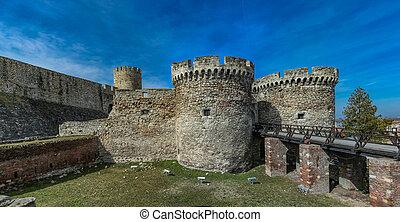 kalemegdan, erőd, alatt, belgrád, szerbia