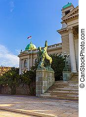 kalemegdan, erőd, alatt, belgrád, -, szerbia