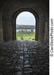 kalemegdan, sortie, belgrade, forteresse, portail