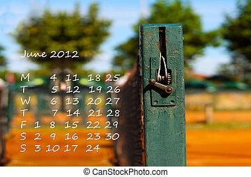 kalendář, červen, 2012