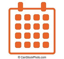 kalendář, ikona