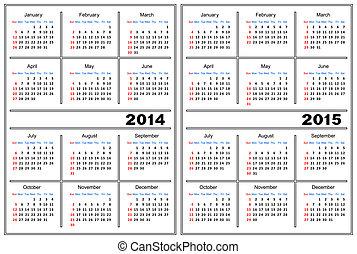 kalendarz, 2014, template.