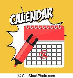 kalendarz, app, ikona