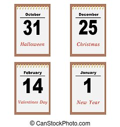 kalendarz, listki