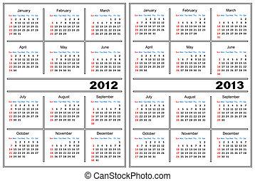 kalendarz, template.