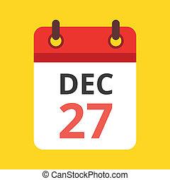 kalendarz, wektor, ikona