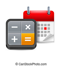 kalendarz, z, kalkulator