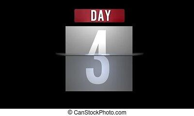 kalendarz, zwijanie, dzień, miesiąc