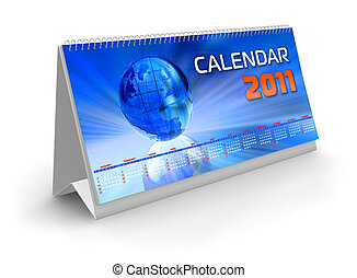kalender, 2011, schreibtisch