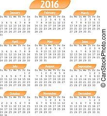 kalender, 2016