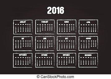 kalender, 2016, jaar
