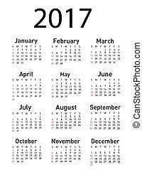 kalender, 2017