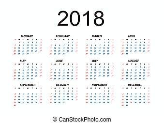 kalender, 2018