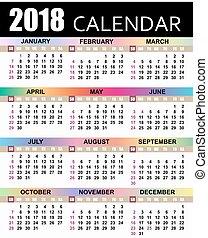 kalender, 2018, europæisk