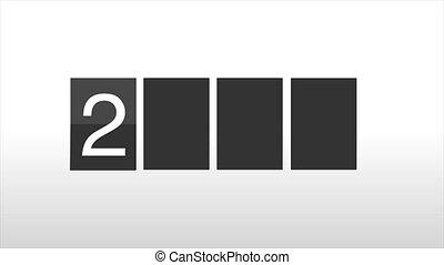 kalender, 2019, tik, klok