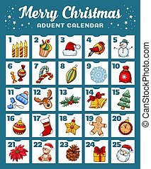 kalender, advent, jul