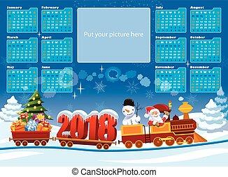 kalender, claus, 2018, santa