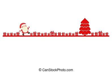 kalender, claus, komme, jul, santa